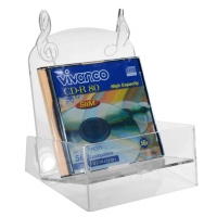 Porta CD in plexiglass trasparente